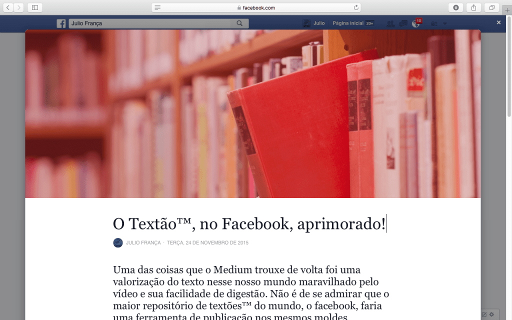 Facebook Notes, textão aprimorado - acredite.co 01