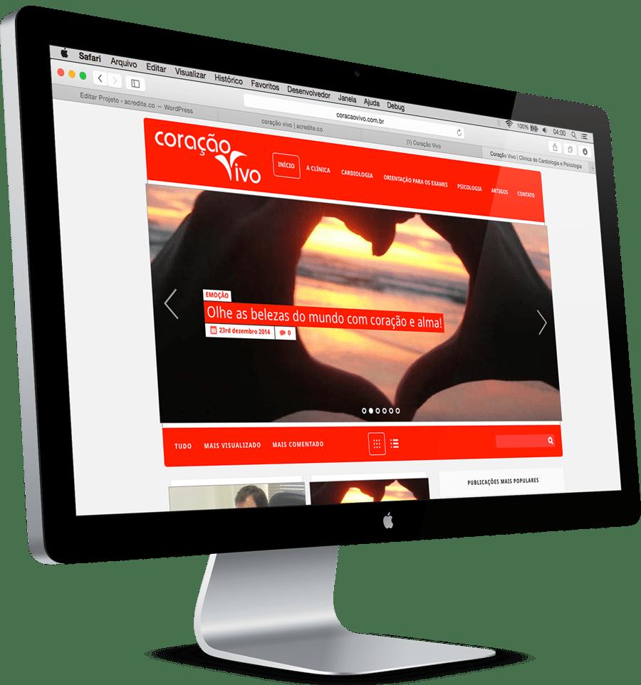 Site Clínica Coração Vivo – acredite.co comunicação digital
