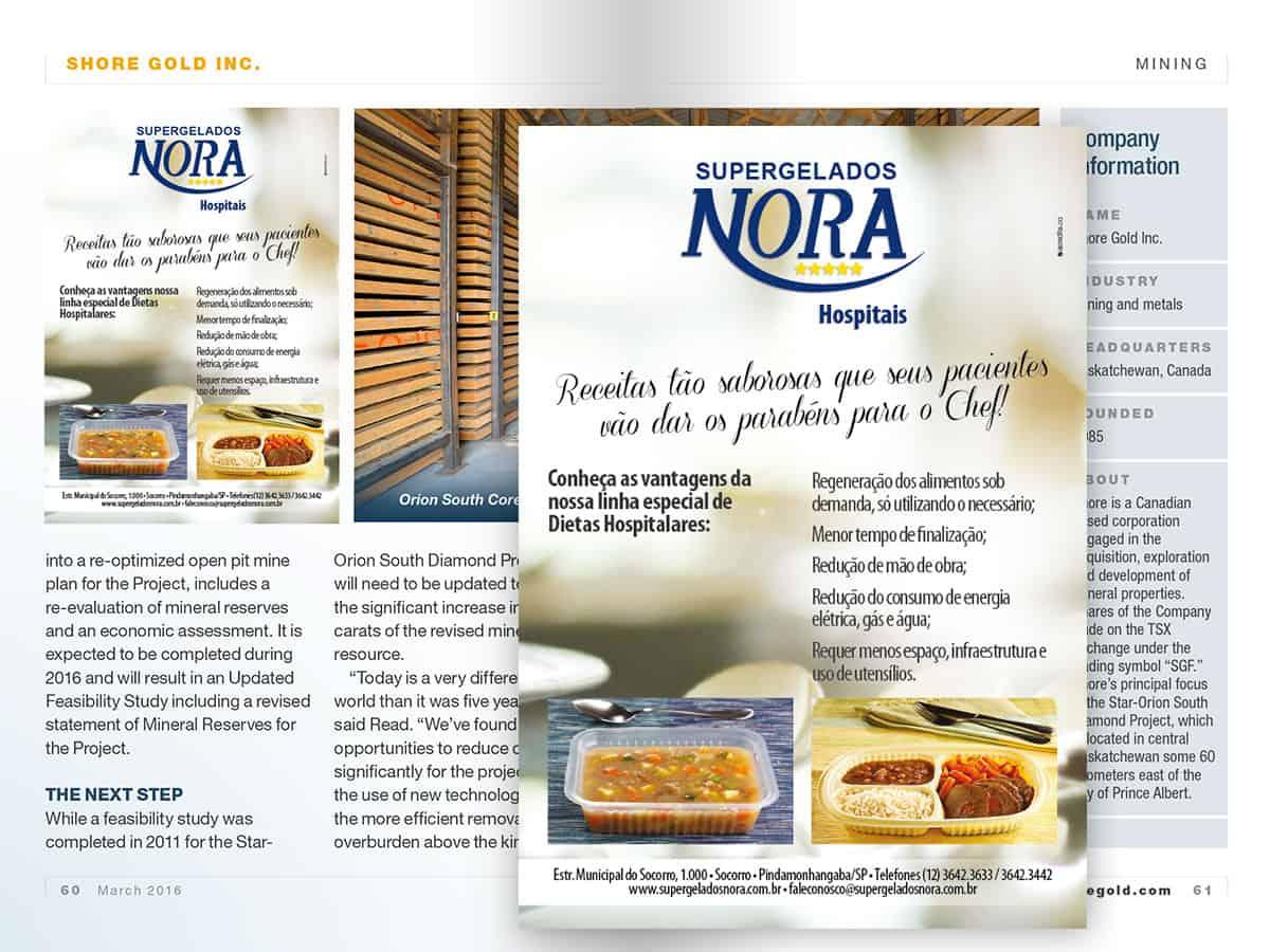 Nora Alimentos Anúncio Dietas Hospitalares - AcrediteCo