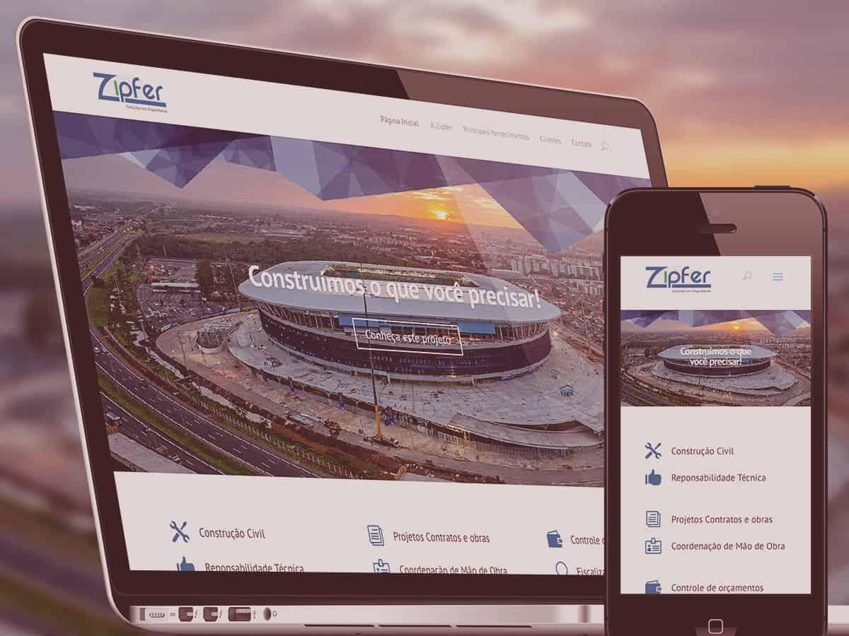 Site Zipfer Soluções em Engenharia - Acredite.Co