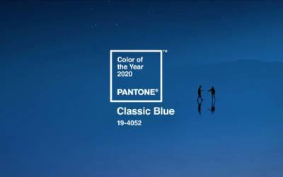 Pantone® Classic Blue é a cor do ano de 2020