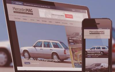 No Portifólio: Site Mercedes Magazine