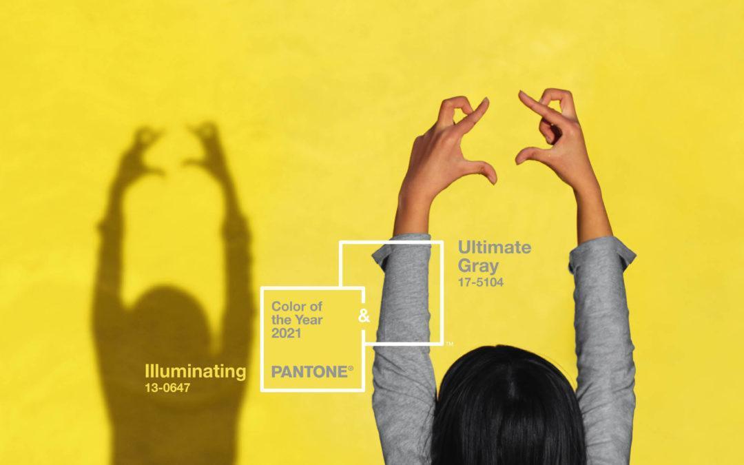 Pantone® Ultimate Gray + Illuminating – Cor do ano de 2021